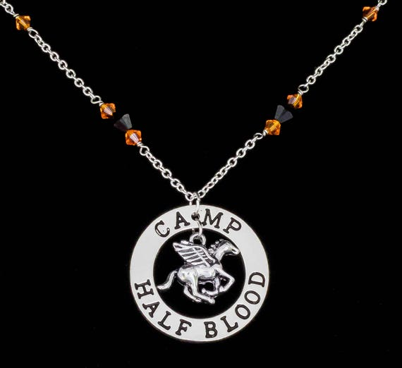 Camp Half Blood Necklace Inspired By Rick Riordans Percy Etsy