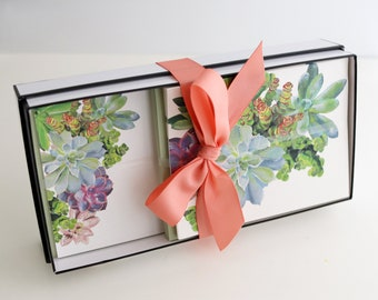 Stationery Gift Box | Succulents