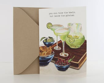 """Just Because Card, """"Mexifeast"""" + Brown Envelope (5x7"""") Item 42083"""
