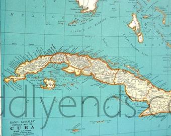 1939 Cuba Atlas Map