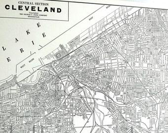 1939 Cleveland Ohio Vintage City Atlas Map
