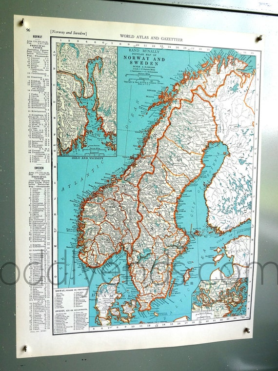 1939 norway sweden atlas map etsy image 0 gumiabroncs Images