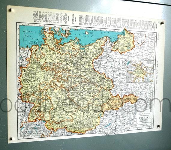 1939 Germany Atlas Map Etsy