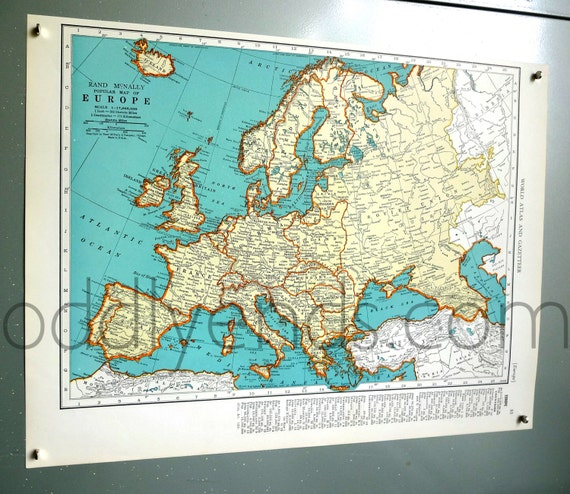 1939 Europe Atlas Map | Etsy