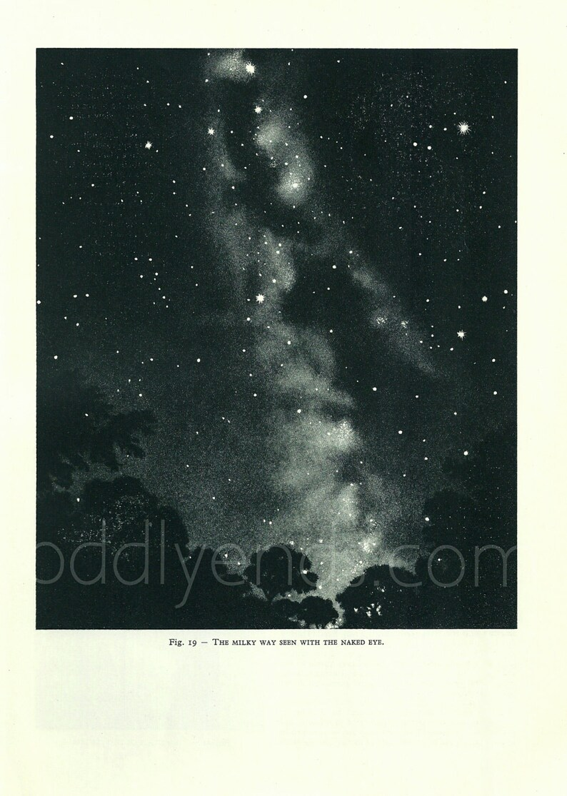 1950's Milky Way Original Vintage Astronomy Planet Space image 0