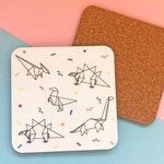 Dinosaur Origami Coaster