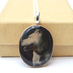Personalized pet necklace Custom photo necklace photo on jewelry pet memorial necklace, custom pet portrait, photo necklace