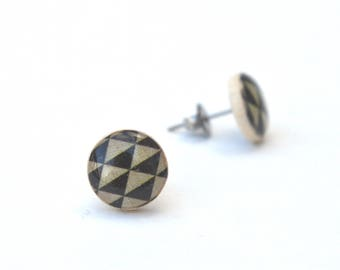 Geometric Circle Stud earrings, Hypoallergenic earrings