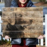 Wood Photo Pet Gift • Photo to Wood • Pet Portrait • Pet Memorial • Pet Mom • Custom Pet Photo on Reclaimed Wood
