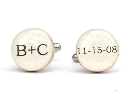 Fifth Wedding Anniversary Gifts For Men: Items Similar To Men's Personalized Cufflinks, Gift For