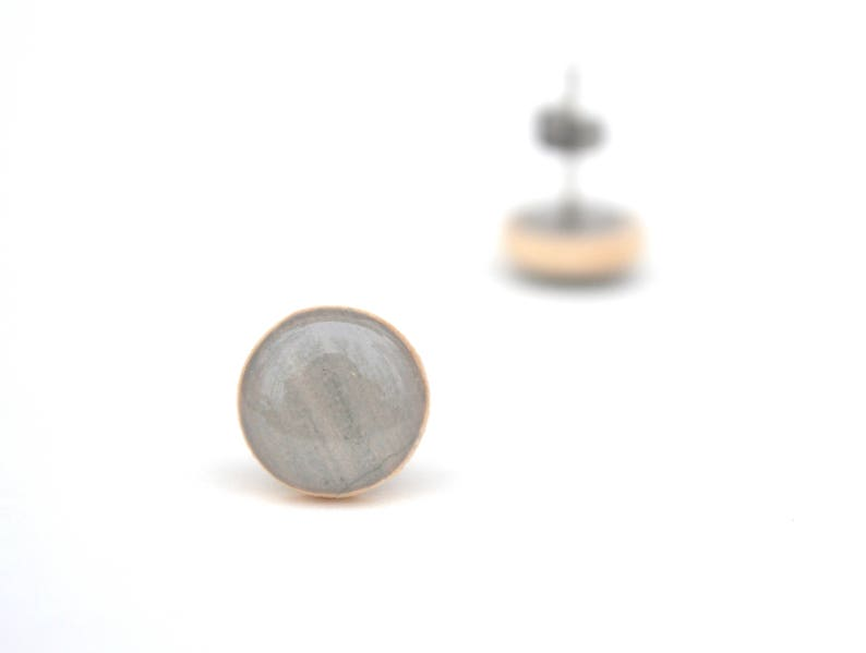 Grey Stud Earrings 3 colors available Hypoallergenic Post image 0