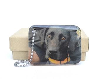 Personalized Photo Keychain - Dog Lover gift - Pet dad personalized - Pet memorial keychain - Double sided photo keychain