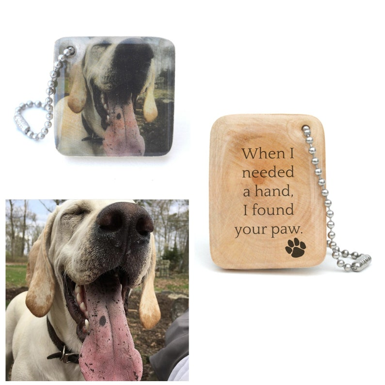 Personalized Pet Photo Keychain  Pet Mom personalized  Dog image 0