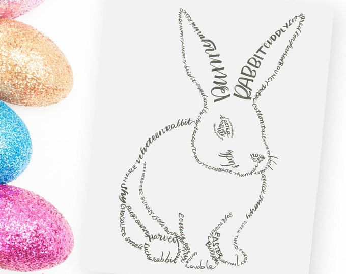 Bunny - A Limited Edition Print of a Hand-Lettered Image