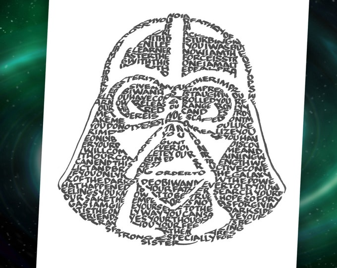 Darth Vader - A Limited Edition Print of a Hand Lettered Image