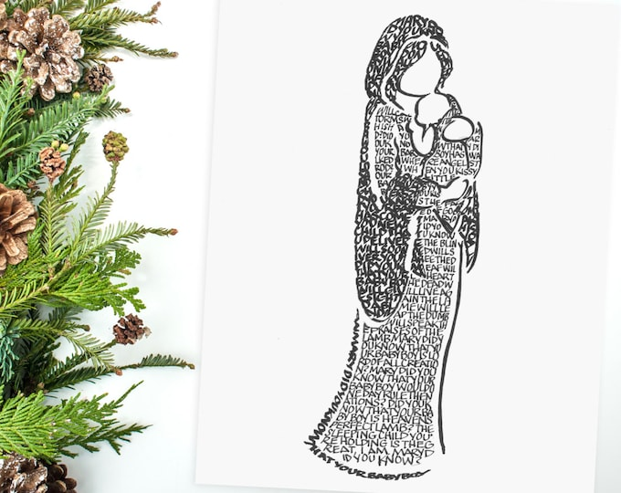 Mary Did You Know? A Limited Edition Print of a Hand-lettered Image Using the Carol.