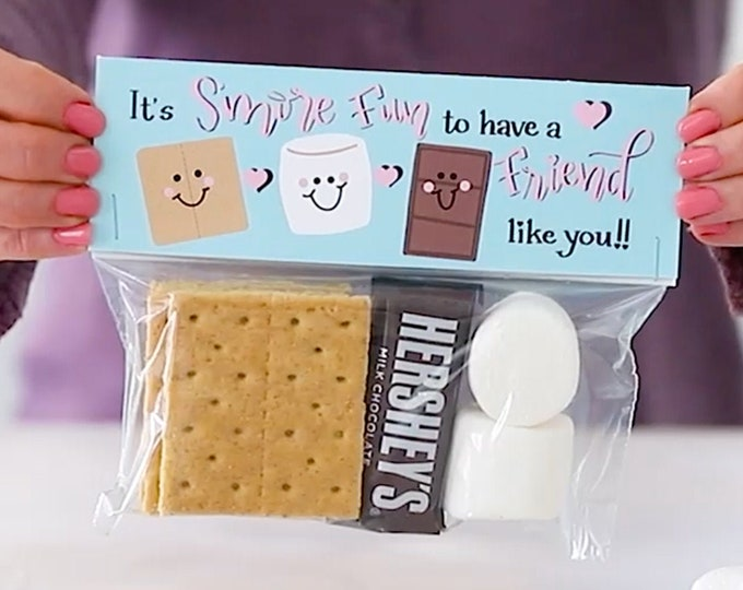 It's S'more Fun to Have a Friend - Printed Bag Toppers for Snack Size Baggies