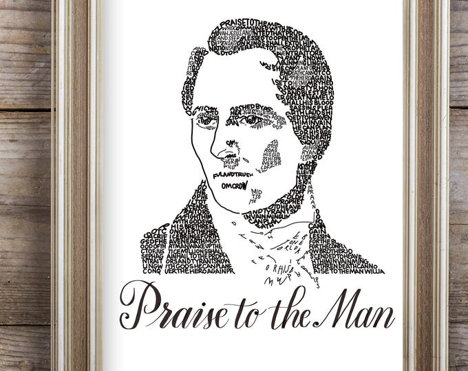 "Praise to the Man - A Limited Edition Print of a Hand-lettered Image Using the Words to the Song ""Praise to the Man"""