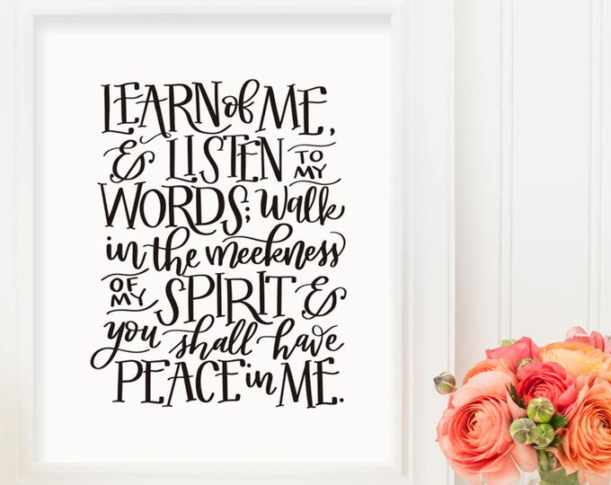 Learn of Me - 2018 LDS Youth Theme - Original Handwritten Art Available as a Digital Download