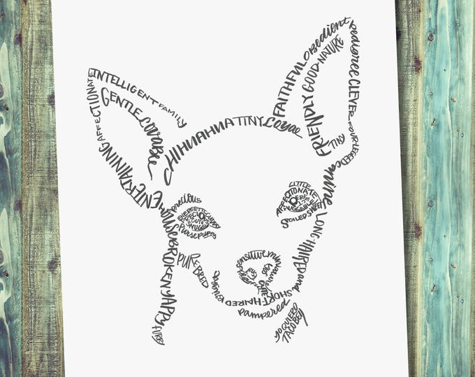 Chihuahua -A Limited Edition Print of a Hand-lettered Image