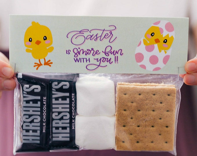 Easter is S'more Fun With You - Printed Bag Toppers for Snack Size Baggies