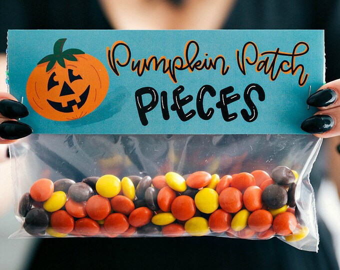 Pumpkin Patch Pieces! - Printed Bag Toppers for Snack Size Baggies