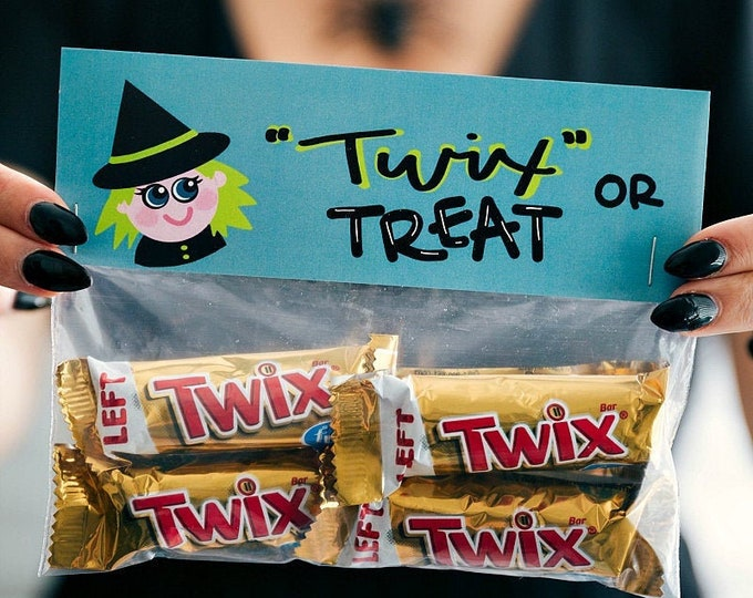 Twix or Treat! - Printed Bag Toppers for Snack Size Baggies