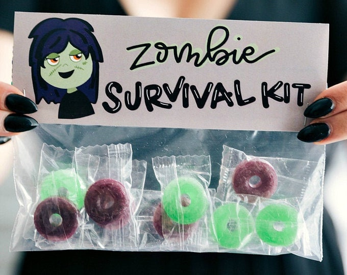 Zombie Survival Kit! - Printed Bag Toppers for Snack Size Baggies