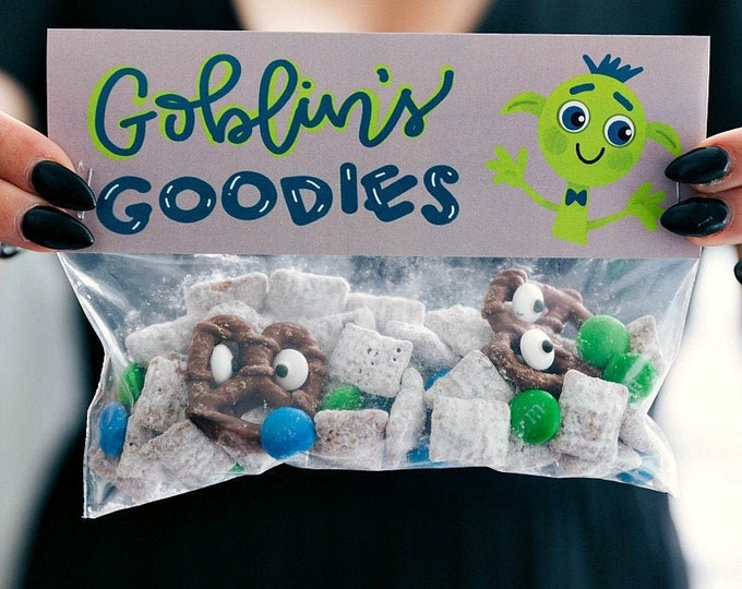 Goblin's Goodies! - Printed Bag Toppers for Snack Size Baggies