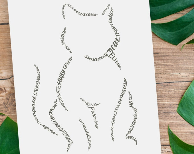 A Feline Friend - A Limited Edition Print of a Hand Lettered Image