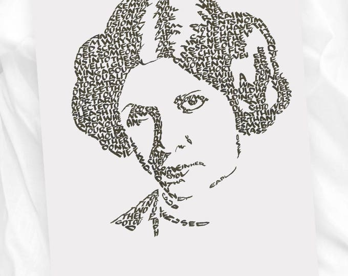 Princess Leia - A Limited Edition Print of a Hand-Lettered Image