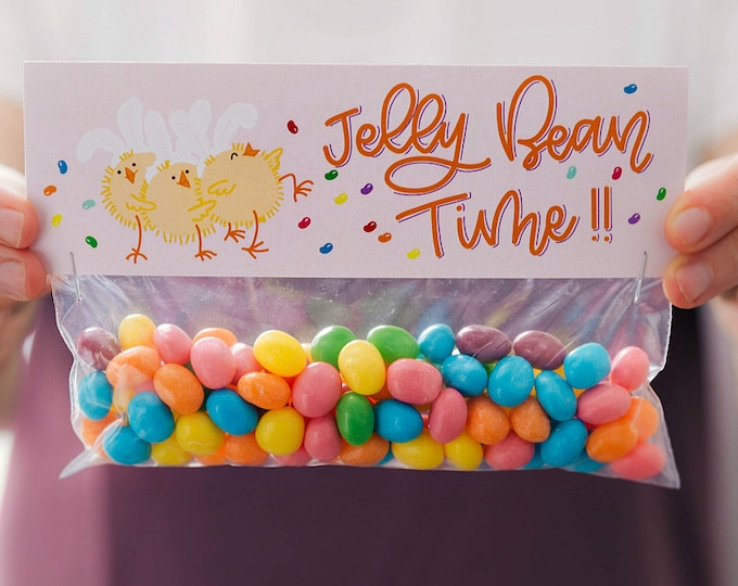 Jelly Bean Time! - Printed Bag Toppers for Snack Size Baggies