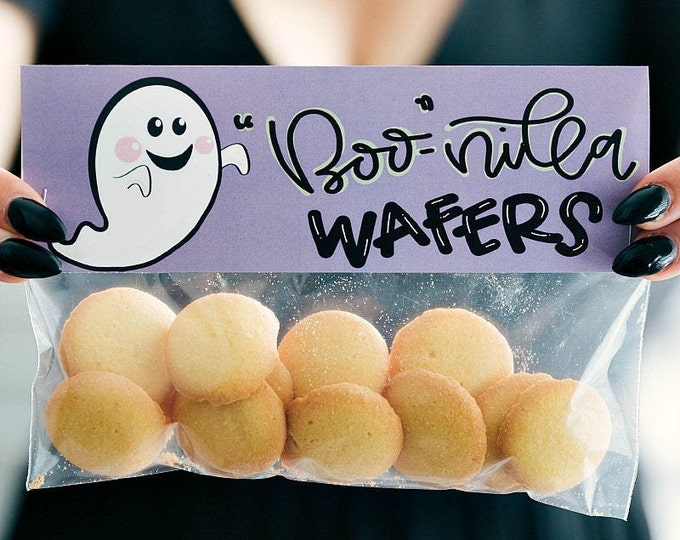 Boo-Nilla Wafers! - Printed Bag Toppers for Snack Size Baggies