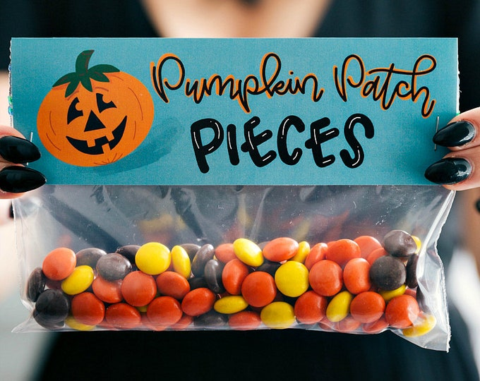Pumpkin Patch Pieces! - Printed Bag Toppers for Snack Size Ziploc Baggies