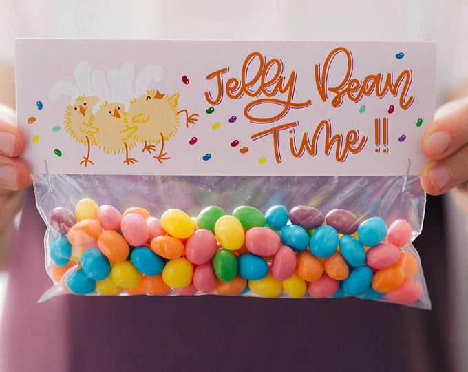 Jelly Bean Time! - Printed Bag Toppers for Snack Size Ziploc Baggies