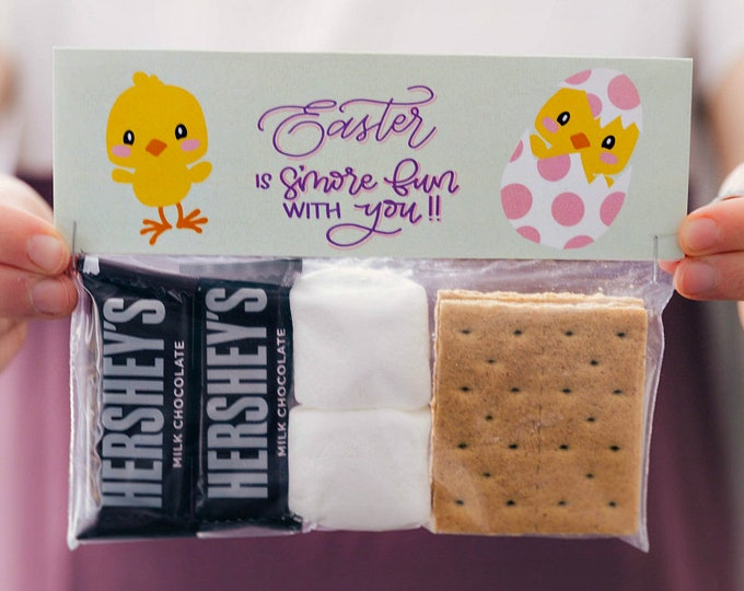Easter is S'more Fun With You - Printed Bag Toppers for Snack Size Ziploc Baggies