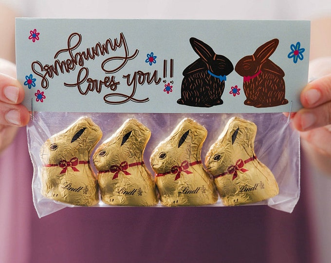 Somebunny Loves You! - Printed Bag Toppers for Snack Size Ziploc Baggies
