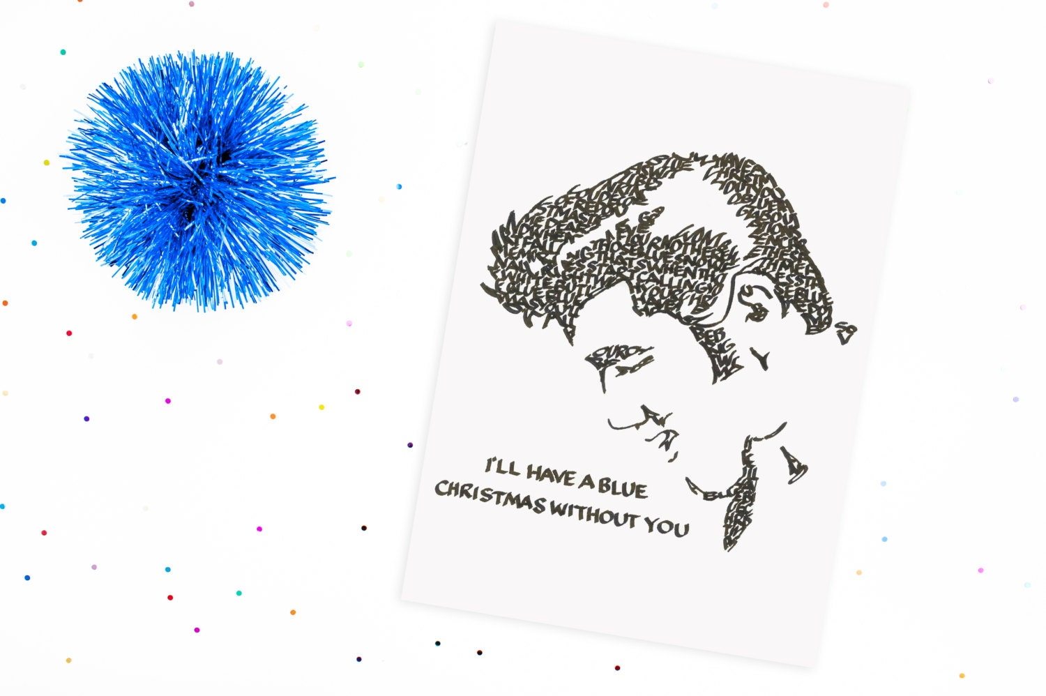 Blue Christmas with Elvis, A Limited Edition Print of a Hand ...