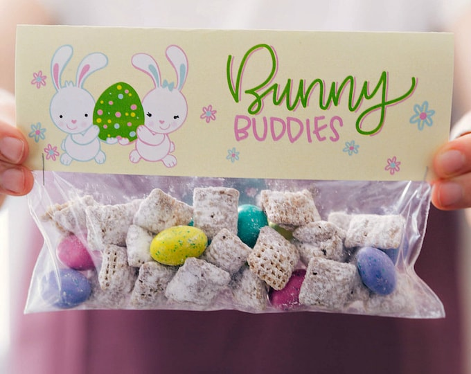 Bunny Buddies - Printed Bag Toppers for Snack Size Baggies