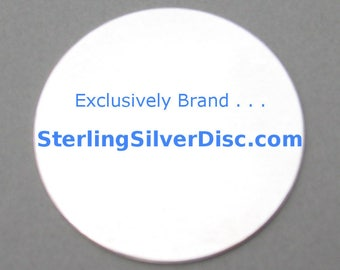 Sterling Silver Disc Blanks Best Price Hand Stamping Metal Jewelry Supply Disks Where to Buy 20g 22ga 24 Gauge 3/8 1/2 5/8 3/4 7/8 1 inch mm
