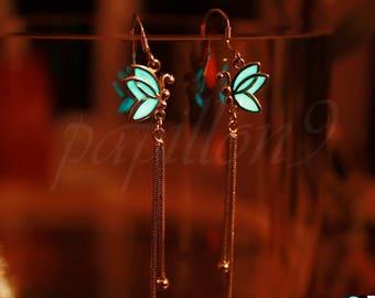 Silver BUTTERFLY Earrings / GLOW in the DARK / Sterling Silver Earrings / France Design Eearrings /