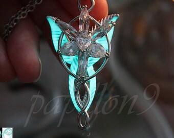 Arwen Evenstar Pendant / Glow in the Dark / Evenstar necklace / LOTR / High Quality Arwen Evenstar /