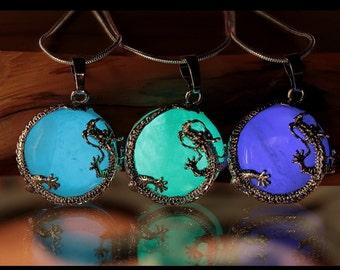 Dragon  Quartz Crystal / Glow in the Dark / Dragon Surrounding Crystal /