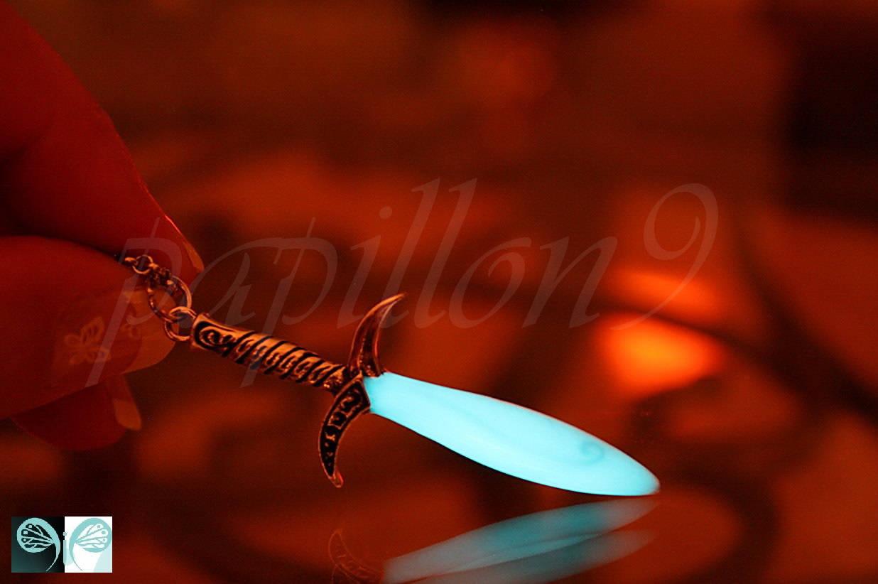 Sword / GLOW in the DARK / Sword Necklace / Glow Sword
