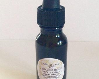Healing Night Repair Serum- All Natural, Vegan, and Gluten Free
