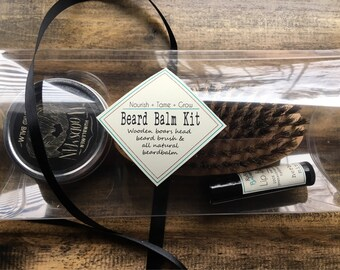 Dad gift, Fathers day gift, Beard grooming kit, beard balm, beard kit, beard comb, beard balm, beard gifts, dad gifts, gift for husband
