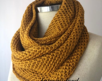 Sale, Handmade scarves, 12 Colors, unisex, mustard scarf, knit scarf, Cowl Scarf, İnfinity scarf, chunky scarf, Best Gift İdea, Gift