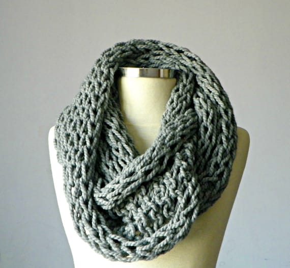Items similar to knit scarf, Knitted Cowl Scarf Neck ...