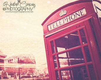 London Red Phonebox Digital DownloadPhotograph, Travel Photography, London 2012, London, Red London Phonebooth Photo, Fine Art Photography