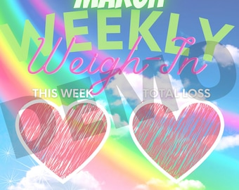 March Weekly Weight Loss Tracker